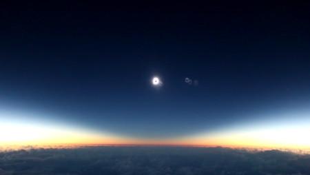 Es oficial, observar un eclipse solar a bordo de un avión es la cosa más increíble del mundo