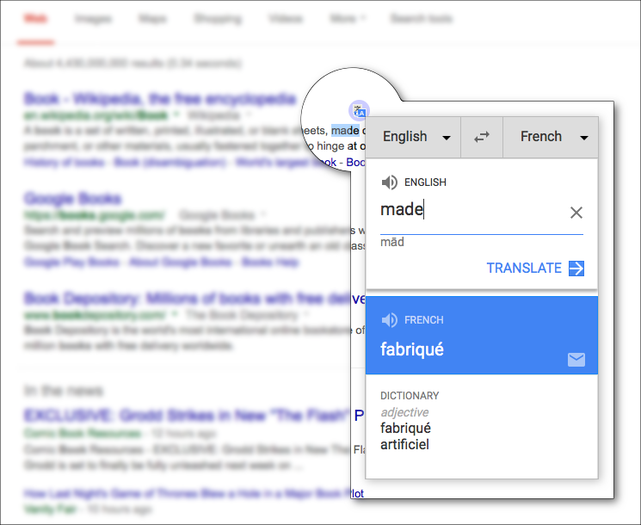 Google Translate Firefox