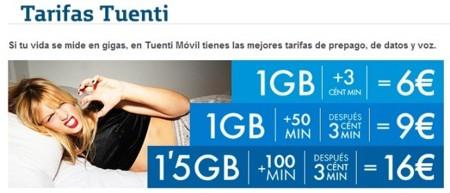 Tarifas Tuenti en la web de Movistar
