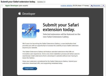 Apple prepara una web dedicada a las extensiones de Safari 5