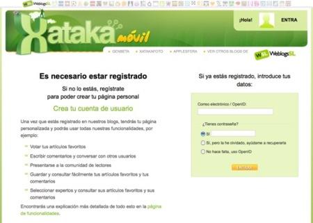 Registrarse en Xataka Móvil: ahora mucho más fácil y rápido
