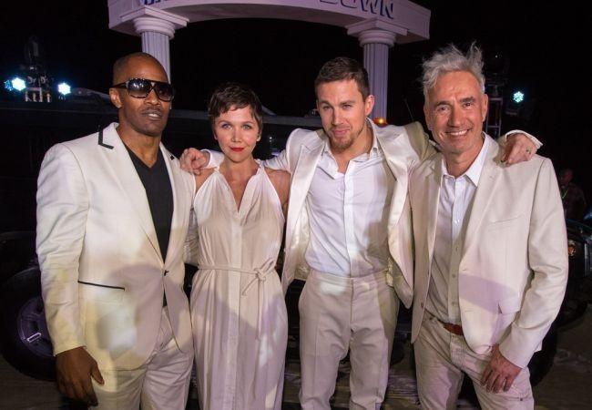 Jamie Foxx, Maggie Gyllenhaal, Channing Tatum y Roland Emmerich