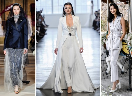Tendencias Bridal Ss 2020 Traje Pantalon