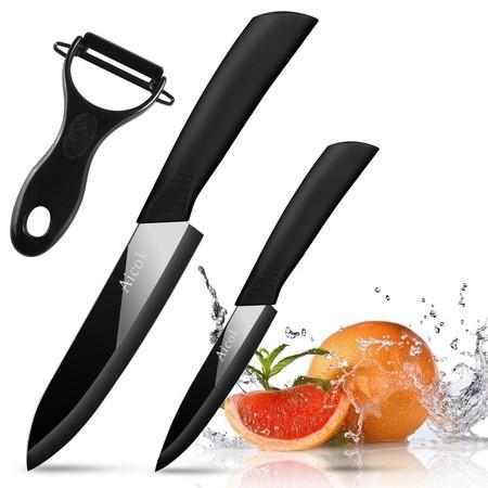 Cupón de descuento del 50% en el juego de cuchillos de cerámica Aicok: Se queda en 8,98 euros en Amazon