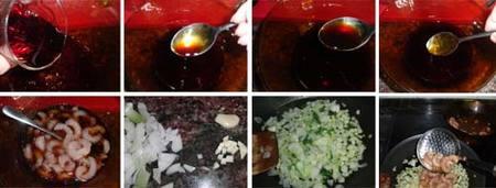 Preparación de gambas salteadas a la soja
