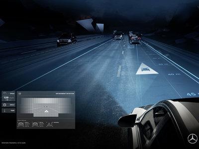 Los Mercedes más exclusivos estrenan (de verdad) las luces LED que hacen de HUD en la carretera