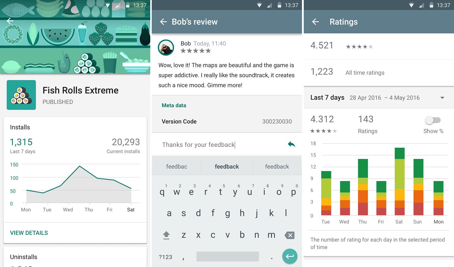 Google play developer console llega a android la aplicaci n esencial para los desarrolladores - Android google developer console ...