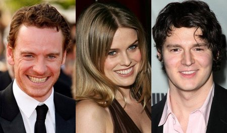 Michael Fassbender, Alice Eve, Benjamin Walker y Caleb Landry Jones en 'X-Men: First Class'