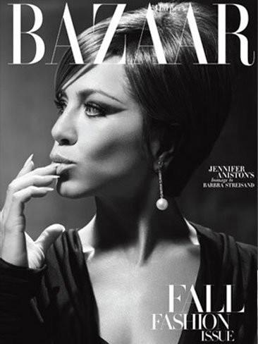 Jennifer Aniston impresionante a lo Barbra Streisand en Harper's Bazaar