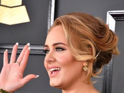 Adele se marca un lookazo, en los Grammy 2017, firmado por Givenchy