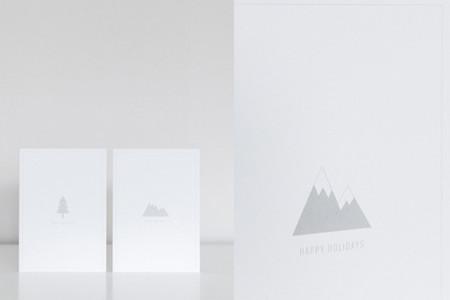 Tarjetas de Navidad minimalista - 2