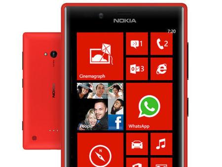 Pantalla del Nokia Lumia 720