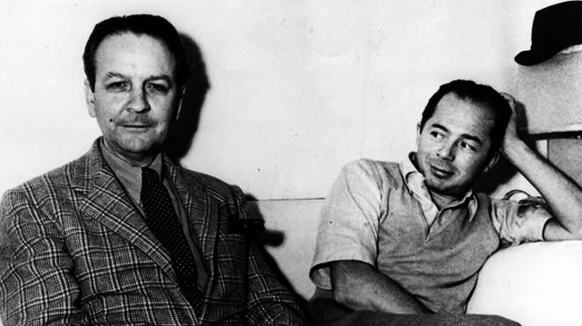 Fotografía de Raymond Chandler y Billy Wilder