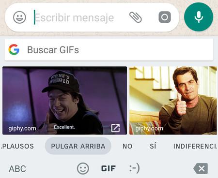 Ya puedes enviar GIFs animados desde Gboard en la beta de WhatsApp