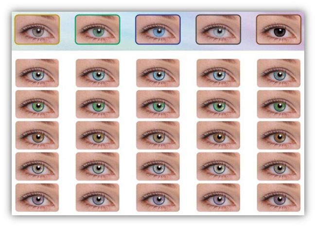Colores lentillas Bausch and lomb