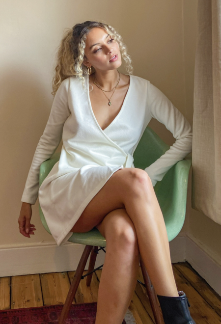 Vestido Blanco Tamara Falco 1