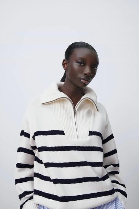 Zara Jersey Basico Rayas Marineras 05
