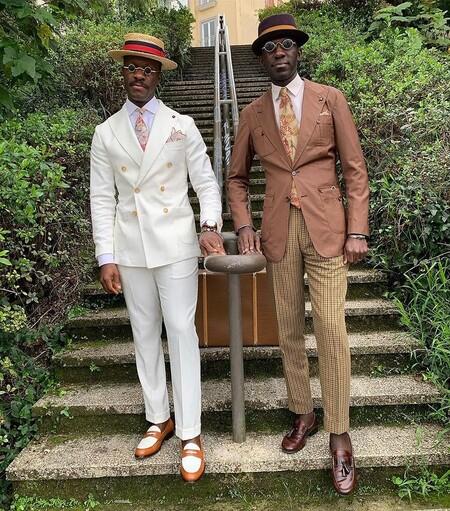 El Mejor Street Style De La Semana Brown Suit Trendencias Hombre 02