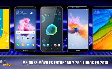 Los mejores móviles de gama media alrededor de 200 euros en 2018