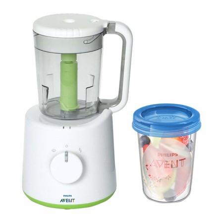 Por 68,51 euros podemos hacernos con el  robot de cocina Philips Avent con 5 tarros para conservar la comida gracias a Amazon