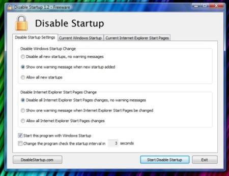 Disable Startup, evita que programas no deseados se inicien en el arranque