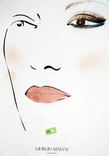 Sesión de maquillaje en Armani