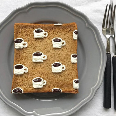 ¿Pueden las tostadas del desayuno convertirse en una obra de arte? Esta artista japonesa cree que sí (e Instagram también)