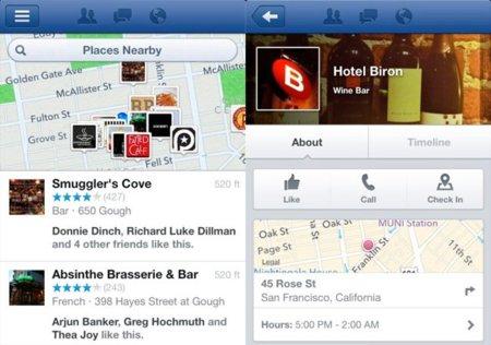 Facebook lanza Nearby en sus aplicaciones móviles para competir con Foursquare