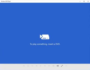 Este es el reproductor DVD que Windows 10 ofrece a los usuarios de Windows Media Center