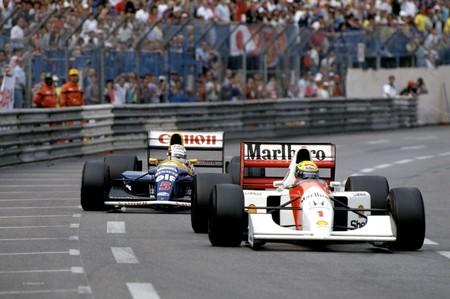 Senna Mansell Monaco 1992