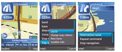 Nokia Maps con información del tráfico en tiempo real