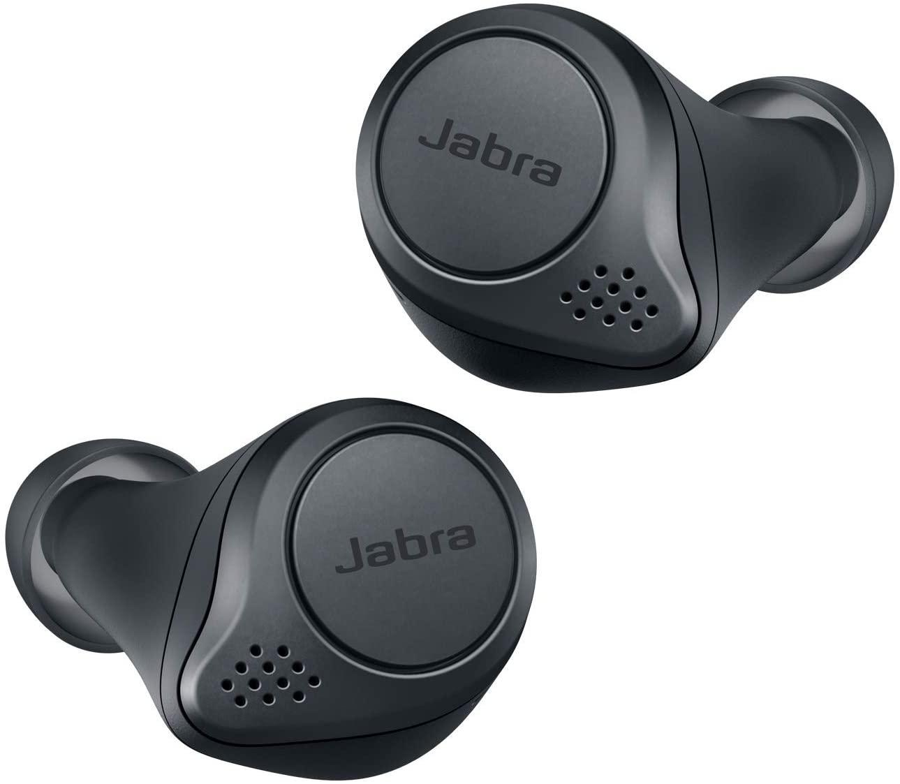 Jabra Elite Active 75t - Auriculares deportivos inalámbricos con Cancelación Activa de Ruido y batería de larga duración para llamadas y música – Gris