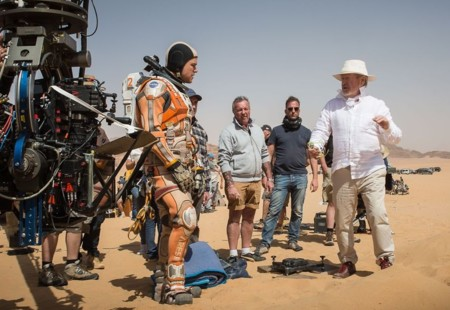 Ridley Scott en el rodaje de Marte (The Martian)