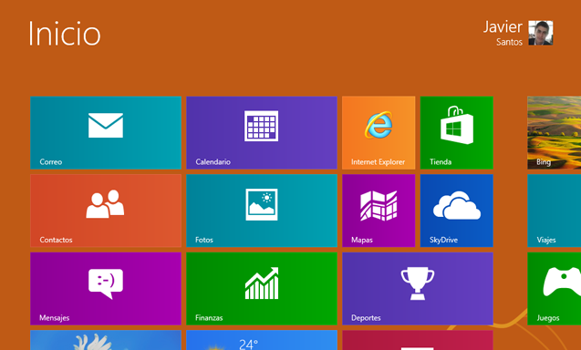 Windows 8 RTM Inicio