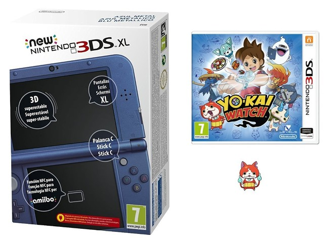 New Nintendo 3DS XL Azul Metálico + Yo-Kai Watch