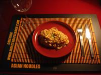 Asian Noodles Picantes con Crema de Cacahuete. Receta