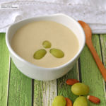 Sopa fría de almendras y uvas. Receta