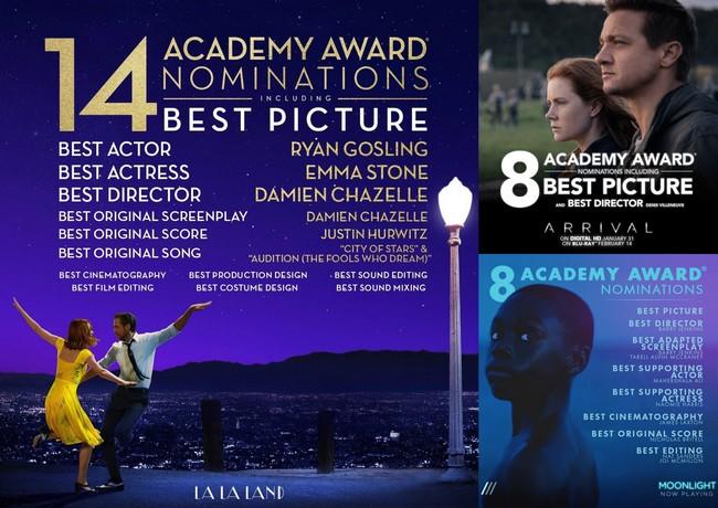 Las películas con más nominaciones a los Oscars 2017