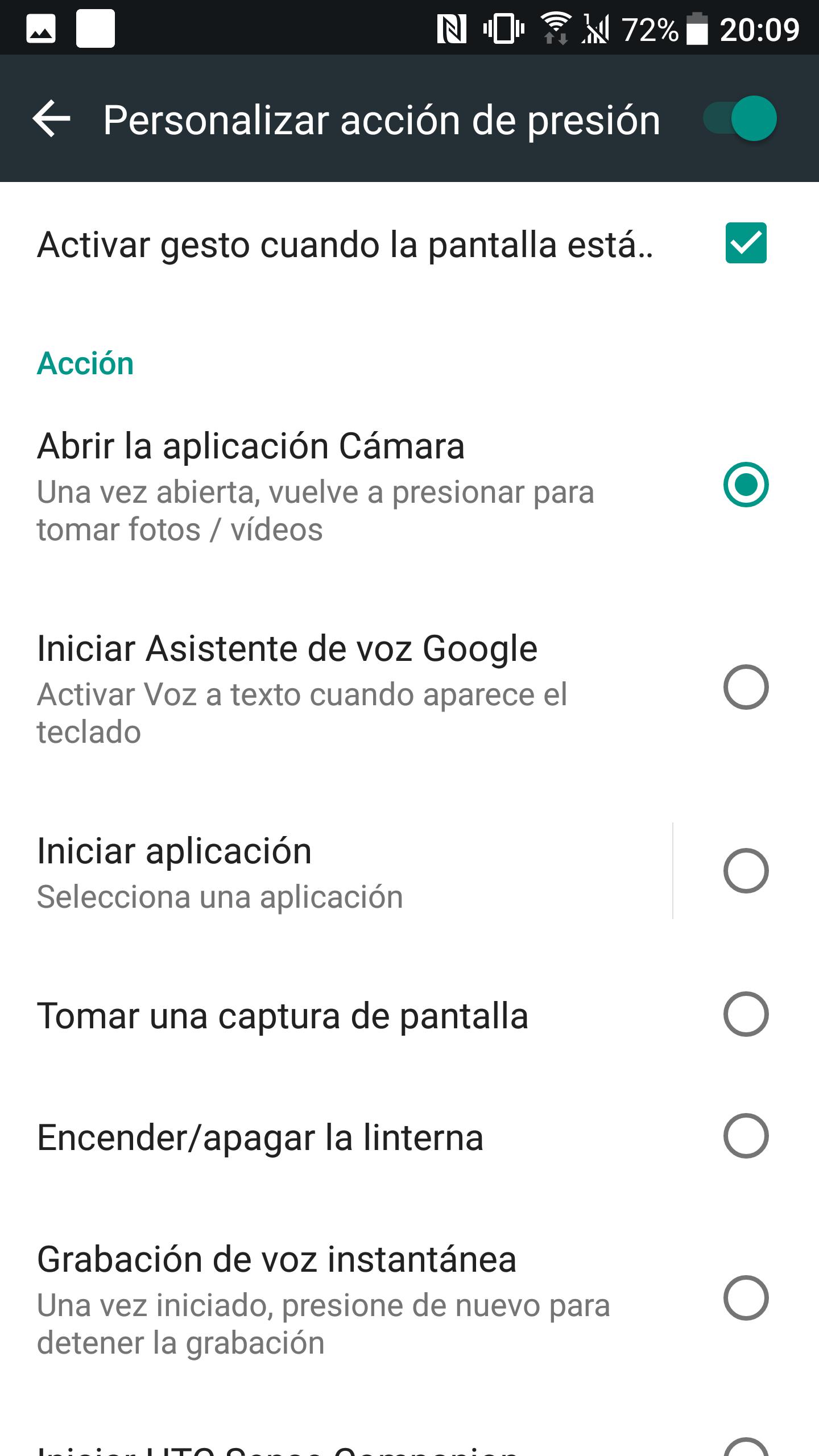 HTC U11 interfaz