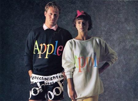 Apple lanzó una colección de ropa en 1986