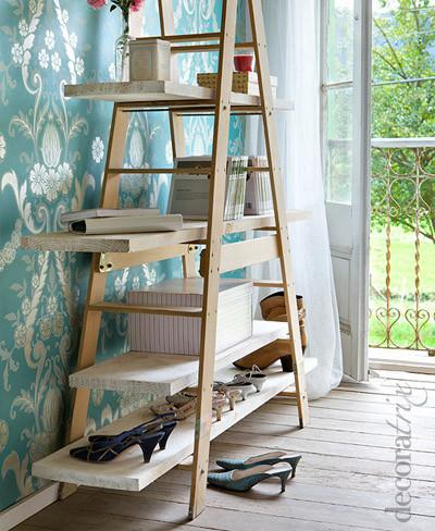 Buena o mala idea convertir una escalera en estanteria - Estanterias en escalera ...