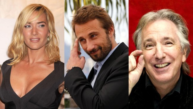 Kate Winslet, Matthias Schoenaerts y Alan Rickman