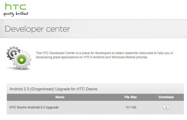 Android 2.3 Gingerbread disponible oficialmente para HTC Desire (pero con letra pequeña)