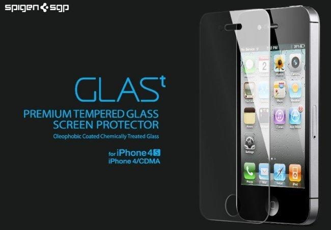 Spigen SGP GLAS.t, protector de cristal para iPhone 4 y 4S
