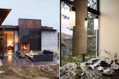 Fortaleza entre las rocas - terraza y baño