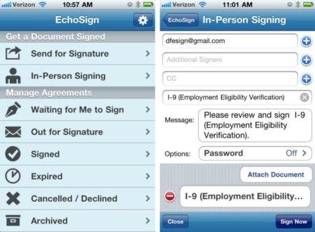 Adobe lanza EchoSign para iOS