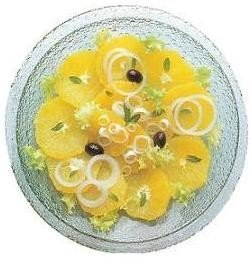 Ensalada de naranja encebollada