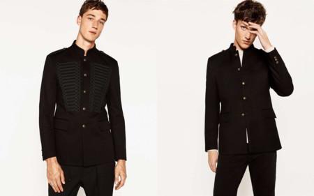 Zara Military Trend Coat Fall Winter 2016 Trendencias Hombre