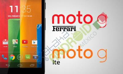 EXCLUSIVA: Moto G Ferrari y Moto G LTE, las dos nuevas versiones del exitoso smartphone de Motorola