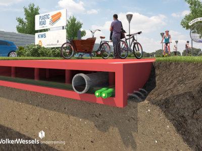 Esta carretera está fabricada con botellas de plástico recicladas y quiere ser el futuro
